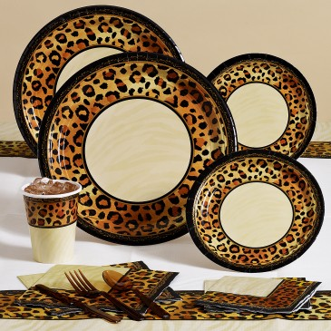 Safari Chic Leopard Print Party Pack for 8