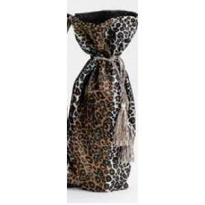 Cloth Cheetah Animal Print Wine Bottle Gift Bag