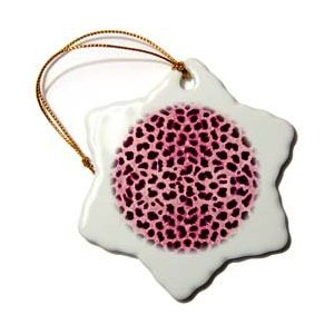 Janna Salak Designs Pink Cheetah Animal Print Ornament