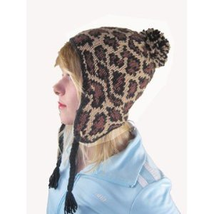 Leopard Pilot Bomber Trooper Toggle Cap Winter Ski Hat