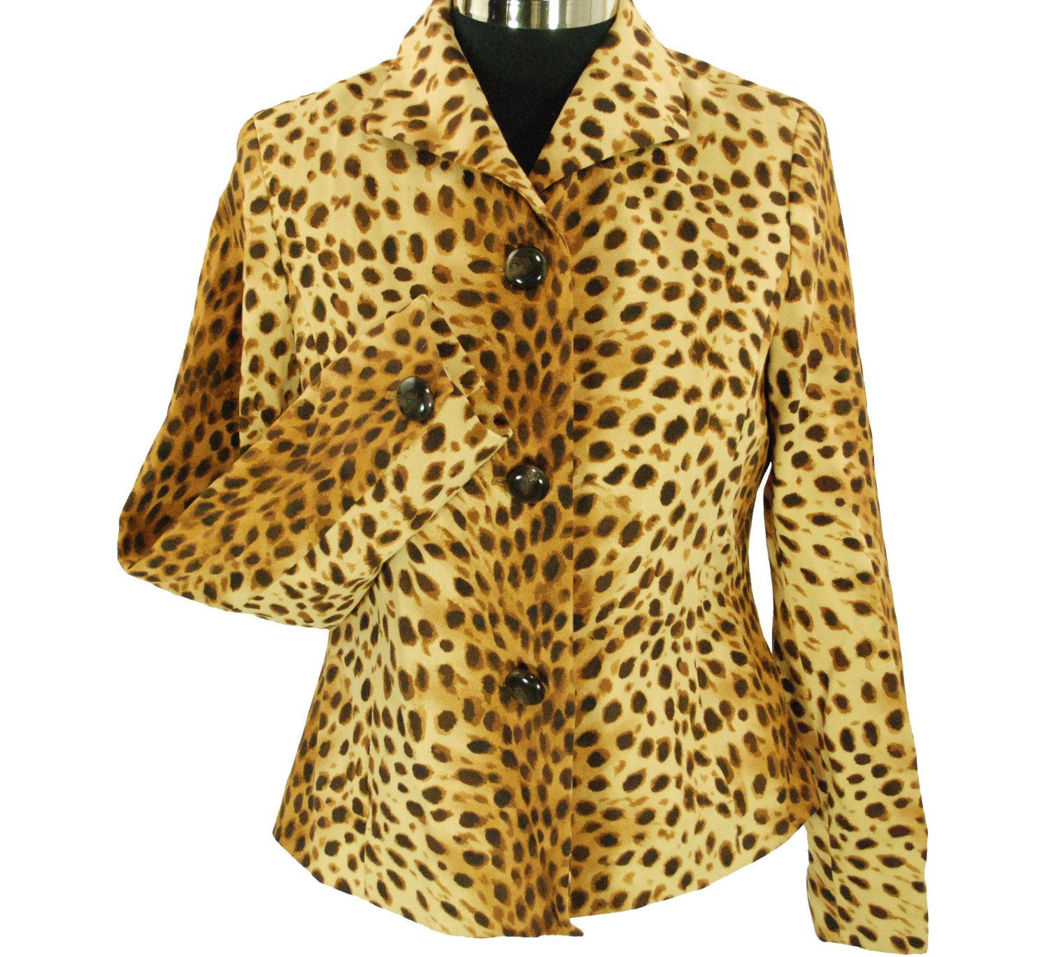 Jones New York Women's Leopard Print Jacket