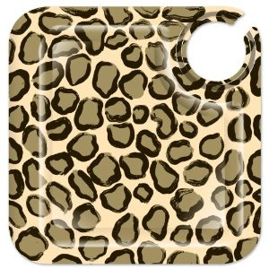 Lolita Leopard Square Appetizer Plates, Set of 4