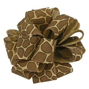 Offray Jungle Ribbon, 5/8″ Wide, 100 Yards, Giraffe Animal Print