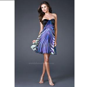 Short Zebra Prom Cocktail Dress