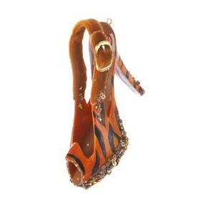 Tiger Print Peep Toe Show Christmas Ornament