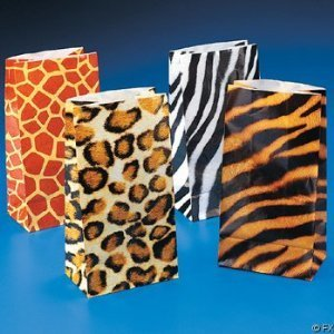 Wild zoo safari Animal print gift and goody bags
