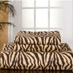 Zebra Print Flannel 100% Cotton Sheet Set
