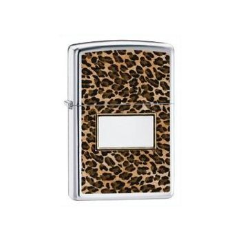 Zippo Lighter – Leopard Animal Print w/ Name Plate
