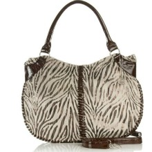 BIG BUDDHA Zebra Animal Print Handbag