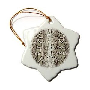 Janna Salak Designs Grey Snakeskin Animal Print Ornament