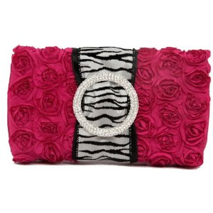 Hot Pink Zebra Wet Wipes Case