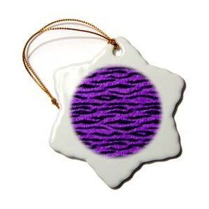 Janna Salak Designs Purple Tiger Animal Print Ornament