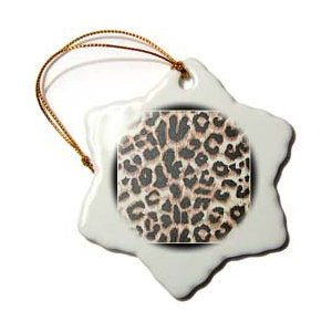 Patricia Sanders Creations Black Frame Leopard Print Animal Print Ornament