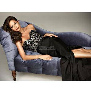 Allure Evening Gown Black Cheetah