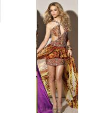 Cheetah Animal Print Prom Dress