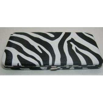 DesignSK Zebra Flat Wallet Clutch Purse Checkbook Holder