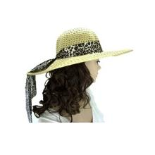 Leopard Multicoloured Beach Day Straw Hat