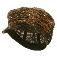 Tiger Animal Print Newsboy Hat