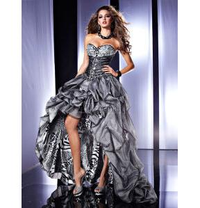 Panoply 2012 Tiger Print Prom Evening Dress