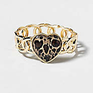 Luxe Leopard Heart Stretch Bracelet