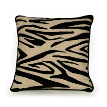 Avenue 8 Flocked Zebra Pillow with Zipper