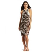 Collection XIIX Women's Leopard Animal Print Pareo