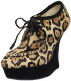 L.A.M.B. Women's Leopard Print Wedge Pump