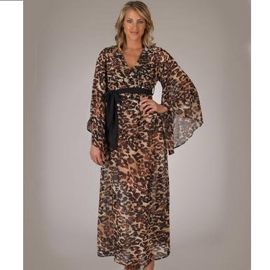 Couture Club Leopard Animal Print Caftan Cover Up