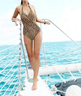 Leopard Animal Print One-Piece Swimsuit