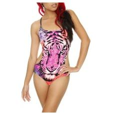 Single Tiger Face Monokini Swimsuit