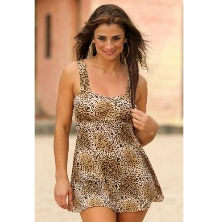UjENA Leopard Swim Dress