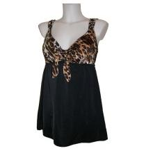 Womens Longitude Swimdress Swimsuit Animal print tie top