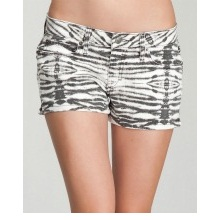 bebe Zebra Print Side Slit Icon Short