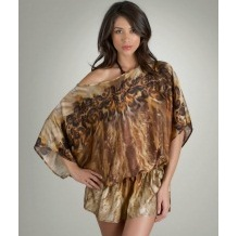 Lisa Vogel Animal Print Swimsuit Coverup Tunic