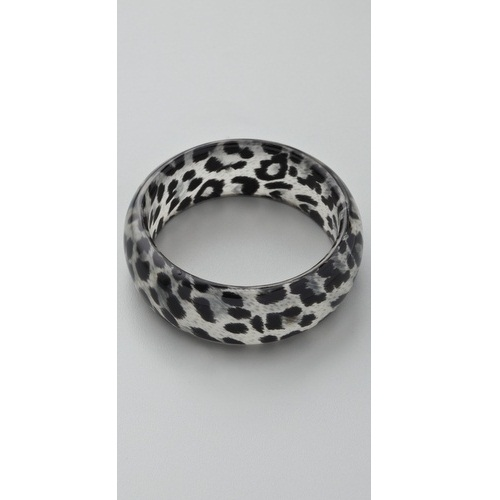Kenneth Jay Leopard Animal Print Bangle