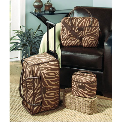4-Pc Zebra Print Luggage Set