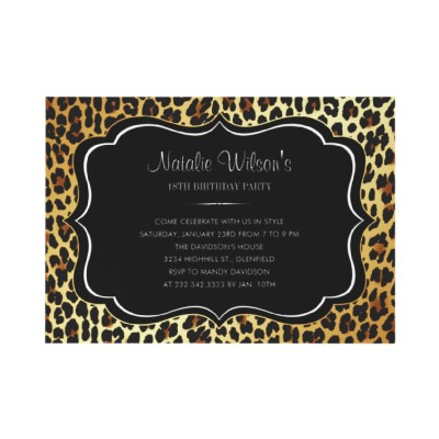 Animal Print Leopard Invitations (10-pack)