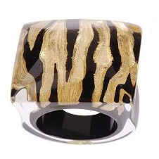 Zebra Animal Print Ring