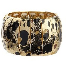 ISAACMIZRAHILIVE! Animal Print Hammered Stretch Bracelet