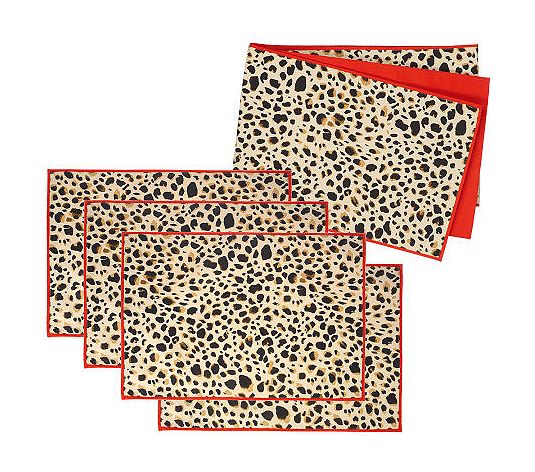 Leopard Animal Print Runner and Placemats