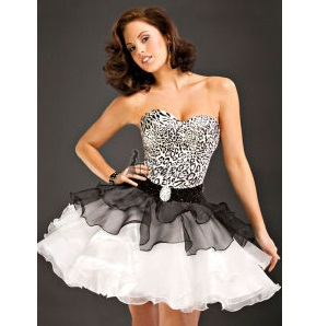 Party Time Leopard Print Prom Dress