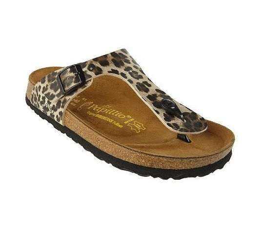 Papillio Gizeh Leopard Animal Print Thong Sandals
