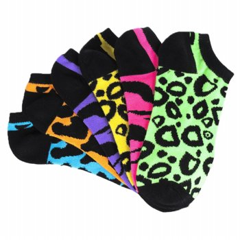 Products: Famous Footwear Women's Neon Animal Print Socks
