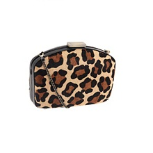 Badgley Mischka Cheetah Calf Hair Purse Bag