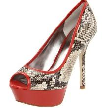 GUESS Snake Skin Print Pumps