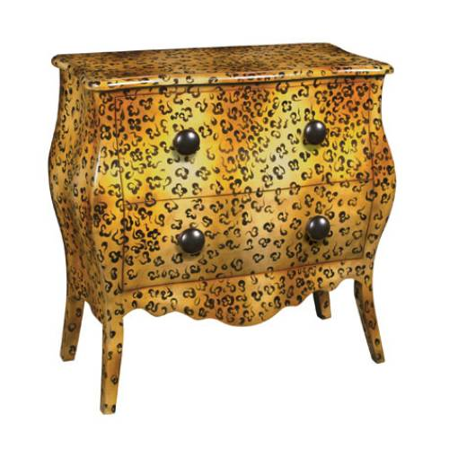 Leopard Bombe Chest