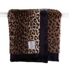 Little Giraffe Leopard Faux Fur Throw