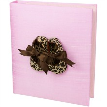 Pink Baby Book with Leopard Print Shoes Personalization