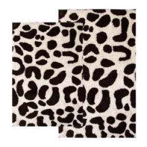 2 Piece Leopard Bath Rug Set