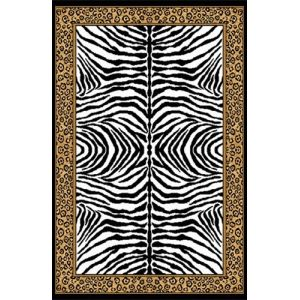 Space Living Zebra Cheetah Rug